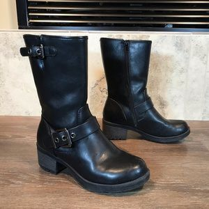 Vintage Soda Motorcycle Boots, Size 5.5